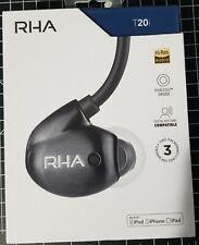 New RHA T20i Gen. 2 HiFi Dual Coil In-Ear Premium Black Headphone with Mic