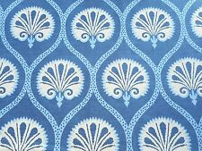 Thibaut Curtain Fabric 'Kimberly' 3.5 METRES Blue/White - Greenwood Collection