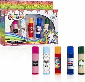 Poopsie Unicorn Make Up Set, Lip Gloss 5 Pack, Lip Balm For Girls Teenagers