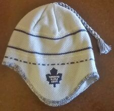 Toronto Maple Leafs NHL Reebok Ear Flap Tassel Knit Beanie Hat
