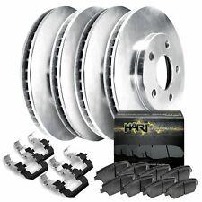 Fits Mazda Protege, Protege5 Front Rear Blank Brake Rotors+Ceramic Brake Pads