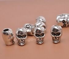 20pcs tibetan silver charm skull beads loose spacer bead 6x9mm