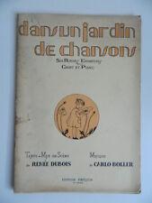 Carlo Boller un jardin de chansons Dubois partition 6 rondes enfantines Foetisch
