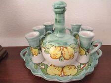 VIETRI - Ceramica Artistica Falcone, 8-Piece Limoncello Set, Excellent Condition