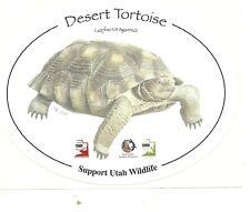"""Nice Oval Support Sticker """"Desert Tortoise - Support Utah Wildlife"""""""