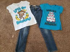 Girls Clothes Lot Size 8, Jeans, Short Sleeve Tops