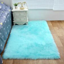Furry Carpet Bedside Sheepskin Area Children Play Room Decor Fluffy Rugs Bedroom