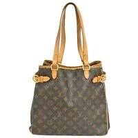 Louis Vuitton Batignolles Vertical M51153 Monogram Shoulder Tote Hand Bag Brown
