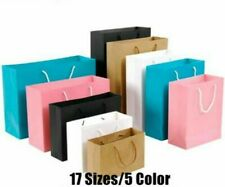 Paper Bag With Cotton Rope Handle For Gift Item Storage Packaging 10pcs/lot Bags