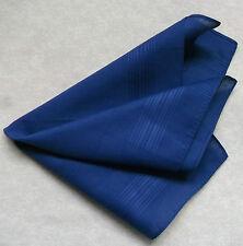 Vintage Handkerchief MENS Hankie Top Pocket Square DARK BLUE COTTON