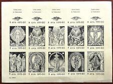 A. V. A. Lucha contra la Tuberculosis Stamps 1979 -80, Uncut Sheet