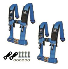 """Pro Armor 4 Point Harness 2"""" Pads Seat Belt Pair With Mount Kit Blue YXZ 1000R"""