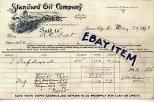 1893 Alexander McDonald BILLHEAD Kansas City Missouri STANDARD OIL COMPANY Ohio