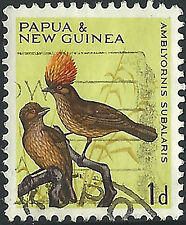 PNG 1964/5  1d Birds of New Guinea FU  (4)  Very clean