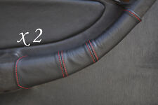 RED STITCH FITS TOYOTA CELICA GT4 T18 90-93 2X DOOR HANDLE LEATHER COVERS