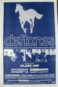 "DEFTONES 2000 ""WHITE PONY TOUR"" SAN DIEGO CONCERT POSTER-Alternative Metal Music"