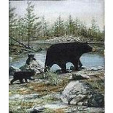Mother Bear and Two Cubs Throw