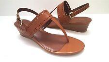 New Cole Haan Women's Elsie Thong Brown Leather Sandal 40 II Sz 7B