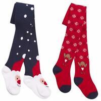 Girls Christmas Design Tights Reindeer / Father Christmas  2-3.3-4,5-6,7-8