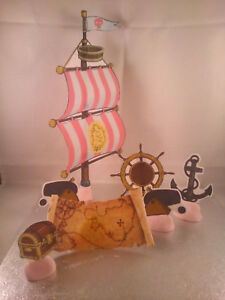 Pirate Ship Sail Set Edible Wafer Cake Decoration