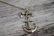 Halskette Anker Schleife Rockabilly Pin Up Rockabella Sailor Bow Anchor Necklace