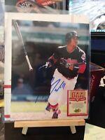 JOSE RAMIREZ signed 8x10 photo CLEVELAND INDIANS WITH COA