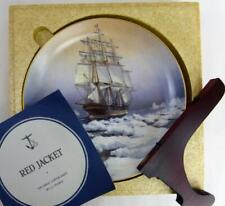 "Great Clipper Ships Red Jacket Plate Franklin Porcelain 9"" Orig Box Pearce fr"