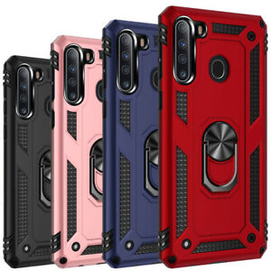 For Samsung Galaxy A21S A02S A11 A21 Case Shockproof Hybrid Ring Stand TPU Cover