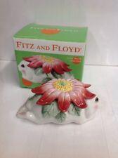 2003-04 Fitz & Floyd 'Bunny Blooms' Oval Trinket Box w/Lid