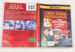 They Were Expendable (R4 DVD 1945) John Wayne, Robert Montgomery - Free Postage