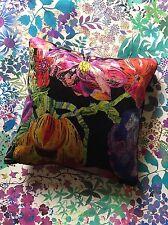 BEAUTIFUL LIBERTY ARTS VELVET PRINT CUSHION PILLOW JEFFERY ROSE FLOWERS FABRIC
