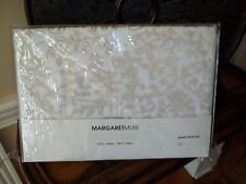 NIP Margaret Muir Gideon Pale Gold Embroidered Queen Duvet Cover Set 3pc
