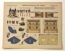 Imagerie D'Epinal No 28 Porte de Ville (City Gate) paper model toy construction