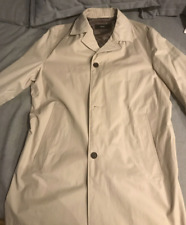 HUGO BOSS MEN WINTER COAT JACKET DESIGNER OUTERWEAR SIZE XL CREAM COLOR