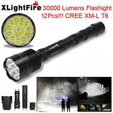 XLightFire 30000LM 12x CREE XML T6 LED Flashlight 5 Mode 18650 Super Bright Lamp