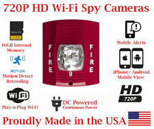 SecureGuard 720p HD WiFi Wireless IP Fire Strobe Light Nanny Spy Camera