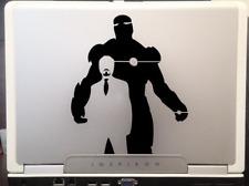 "Iron man Tony Stark Avengers Marvel superhero  car SUV decal sticker 8"" Black"