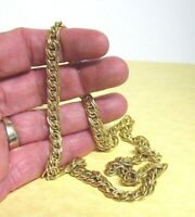 14K GOLD FILLED CHAIN NECKLACE 17 INCHES   22 GRAMS