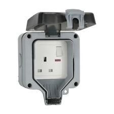 Waterproof Outdoor 13A Gang Storm Switched Socket Double IP66 Outside Use