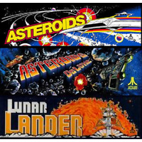 Asteroids Deluxe Multigame Free Play and High Score Save Kit Arcade