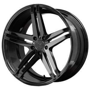 "22"" Inch Verde V39 Parallax 22x9 5x114.3(5x4.5"") +32mm Gloss Black Wheel Rim"