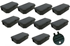 10 x Mouse Mice Bait Box Station Trap & key to hold poison Rodent Pest Control