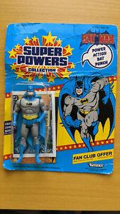 DC Super Powers 1984 Vintage Kenner Batman - 23 back, Unpunched, MOC