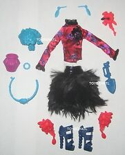 Monster High Gloom and Bloom Jane Boolittle VooDoo Doll Outfit Clothes Shoes NEW