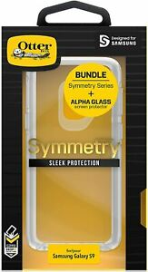 New Original OtterBox Symmetry With Alpha Glass for Samsung Galaxy S9 Clear