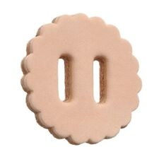 """Slotted Leather Rosettes - 1 1/2"""" - Slotted - 10 Pack"""