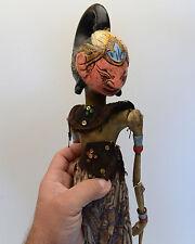 Vintage Indonesian Wood Rod Stick Wayang Golek Puppet Doll