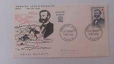 FRANCE PREMIER JOUR FDC YVERT 1188 HENRI DUNANT 20F+ 8F PARIS 1958 G109