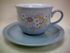Denby Reflections Tea Cup & Saucer White Inner Excellent Condition