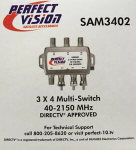 3 X 4 Multi-Switch Perfect Vision SAM3402 40-2150 MHz DirecTV Approved Brand New